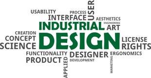 Nuvem da palavra - projeto industrial ilustração stock