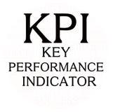 Nuvem da palavra da revisão de plano de Kpi ilustração royalty free