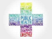 Nuvem da palavra da saúde pública ilustração do vetor