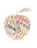 Nuvem da palavra sobre maçãs Fotos de Stock Royalty Free