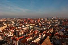 Nuvem da poluição atmosférica sobre Wroclaw Foto de Stock