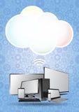 Nuvem da tecnologia Imagens de Stock Royalty Free
