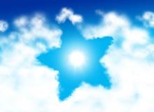 Nuvem dada forma estrela Fotos de Stock Royalty Free