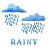 Nuvem de chuva Fotos de Stock Royalty Free