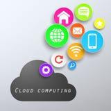 Nuvem de computação app Ilustração do Vetor