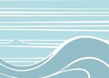 Nuvem de onda do Seascape ilustração stock