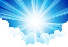 Nuvem de Sun do céu ilustração royalty free
