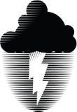 Nuvem de tempestade com relâmpago Fotos de Stock Royalty Free