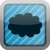 Nuvem do ícone do App Imagem de Stock
