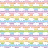 Nuvem do branco do arco-íris fotografia de stock