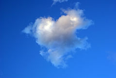 Nuvem do coração imagem de stock royalty free