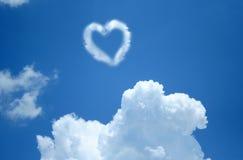 Nuvem do coração Fotografia de Stock Royalty Free