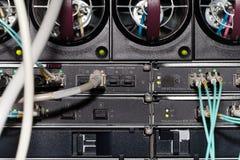 Nuvem do elevado desempenho do servidor da parte traseira Fotografia de Stock