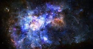 Nuvem do gás da nebulosa no espaço profundo ilustração stock
