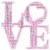 Nuvem do informação-texto do amor Foto de Stock Royalty Free
