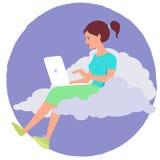 Nuvem do Internet Foto de Stock Royalty Free