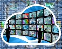 Nuvem do Internet Fotografia de Stock