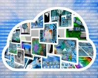 Nuvem do Internet Imagens de Stock