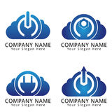 Nuvem do logotipo do conceito do poder Imagem de Stock