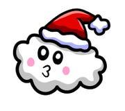 Nuvem do Natal dos desenhos animados ilustração stock