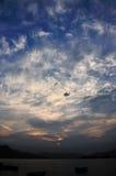 Nuvem do por do sol fotografia de stock