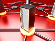 Nuvem do server Imagens de Stock