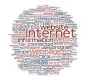 Nuvem do Tag do Web page do Internet Foto de Stock