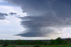 Nuvem do temporal do Supercell foto de stock