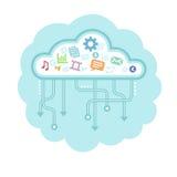 Nuvem dos dados ilustração royalty free
