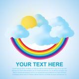 Nuvem e arco-íris com espaço do texto Imagens de Stock
