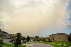 Nuvem e casa em Florida Fotografia de Stock