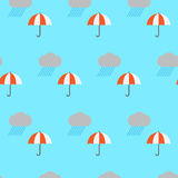 Nuvem e guarda-chuva de chuva Foto de Stock