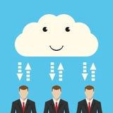Nuvem e homens de negócios Fotografia de Stock Royalty Free