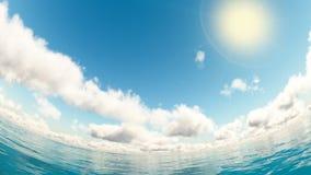 Nuvem e mar Foto de Stock Royalty Free