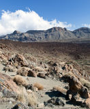 Nuvem e montanhês no parque nacional Fotografia de Stock