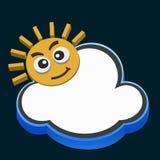 Nuvem e sol ilustração royalty free