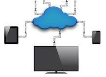 Nuvem e tecnologia Imagens de Stock Royalty Free