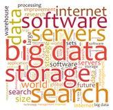 Nuvem grande da palavra de dados Imagem de Stock