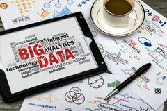 Nuvem grande da palavra de dados Imagens de Stock