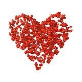 Nuvem Heart-shaped dos corações. Imagem de Stock