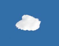 Nuvem isolada Foto de Stock