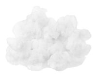 Nuvem isolada sobre o pico de montanhas imagem de stock