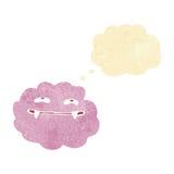 nuvem macia cor-de-rosa do vampiro dos desenhos animados com bolha do pensamento Foto de Stock Royalty Free
