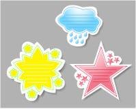 Nuvem, margarida, selos do jornal da estrela ilustração royalty free