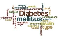 Nuvem mellitus da palavra do diabetes Fotos de Stock Royalty Free
