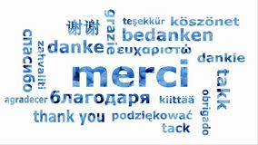 Nuvem movente da palavra ao merci da palavra em línguas selecionadas filme