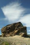 Nuvem na pedra Imagens de Stock