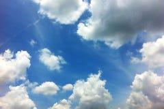 Nuvem no céu Fotografia de Stock