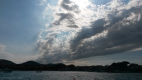 Nuvem no mar Fotos de Stock