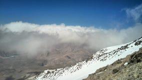 Nuvem no pico, pico do demavand fotografia de stock royalty free